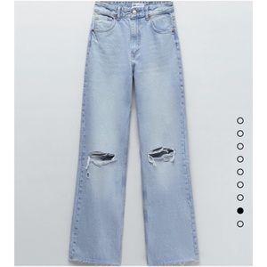 Zara wide leg full length jeans 6045/025